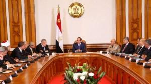 «السيسى» فى أول اجتماع بالحكومة الجديدة