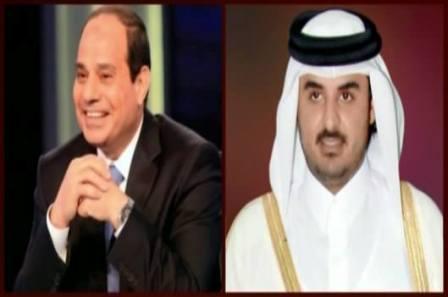 السيسي و أمير قطر