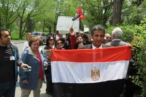 صورة لتصويت المصريين بكندا