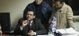خالد البلشى مع عدد  من الصحفيين