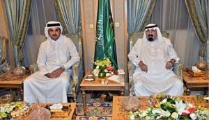 سؤال محرج من أميرقطر للملك السعودي؛ فماذا كانت النتيجة؟