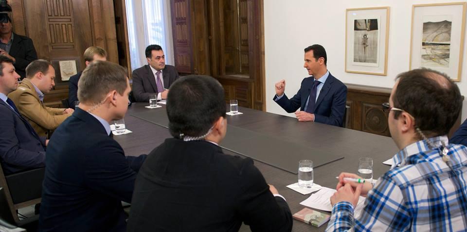 الرئيس بشار مع وسائل  الإعلام الروسية