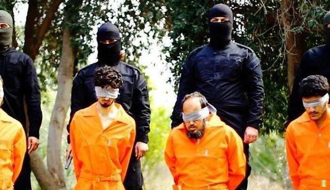 "صور ""مروعة"" تنشرها ""داعش"" لاعدام 4 عراقيين"
