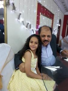 ناصر عدلى  مع  بنته ميرين