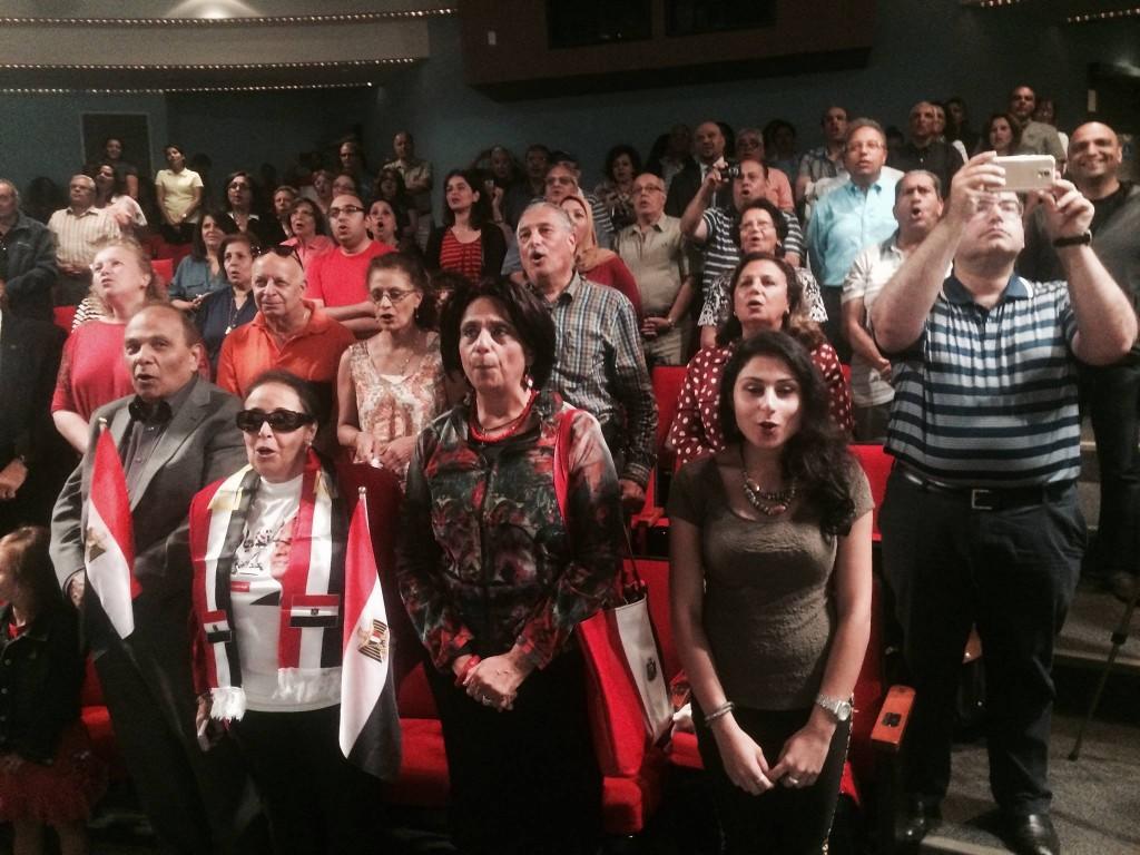 جانب من إحتفال النشطاء الأقباط