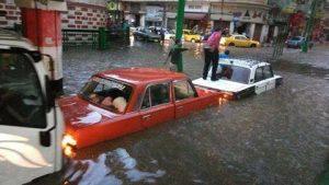 صور من الأمطار التى إغرقت محافظة أسيوط