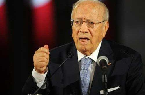 الرئيس التونسى السبسى