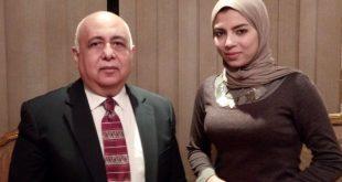 اللواء هشام الحلبي  مع الزميلة رحاب صبرى
