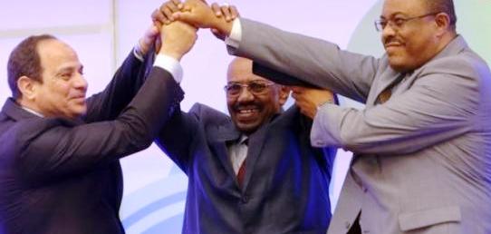 البشير والسيسى ورئيس إثيوبي