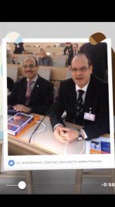 مع الاخ والصديق ممدوح نخلة في الامم المتحدة بمؤتمر بجنيف