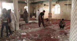 من آثار تفجير مسجد الروضة بالعريش