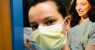 نتاليا أثناء عملها كممرضة