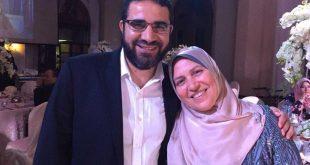 أحمد ياسر الباز مع زوجته صفاء العشماوي