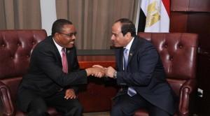 السيسى  مع رئيس  أثيوبيا