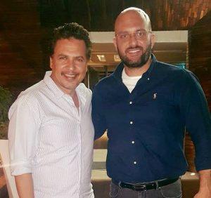 الدكتور باسم السواح مع  الفنان محمد رياض