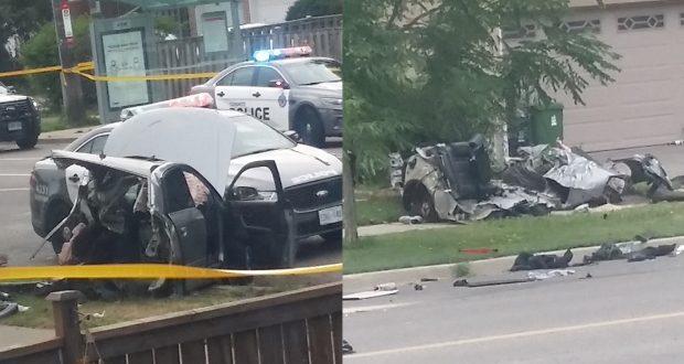 صورة ألتقطت من مكان الحادث